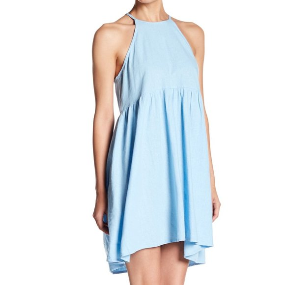 Abound Dresses & Skirts - Abound Halter Neck Linen Blend Shift Dress